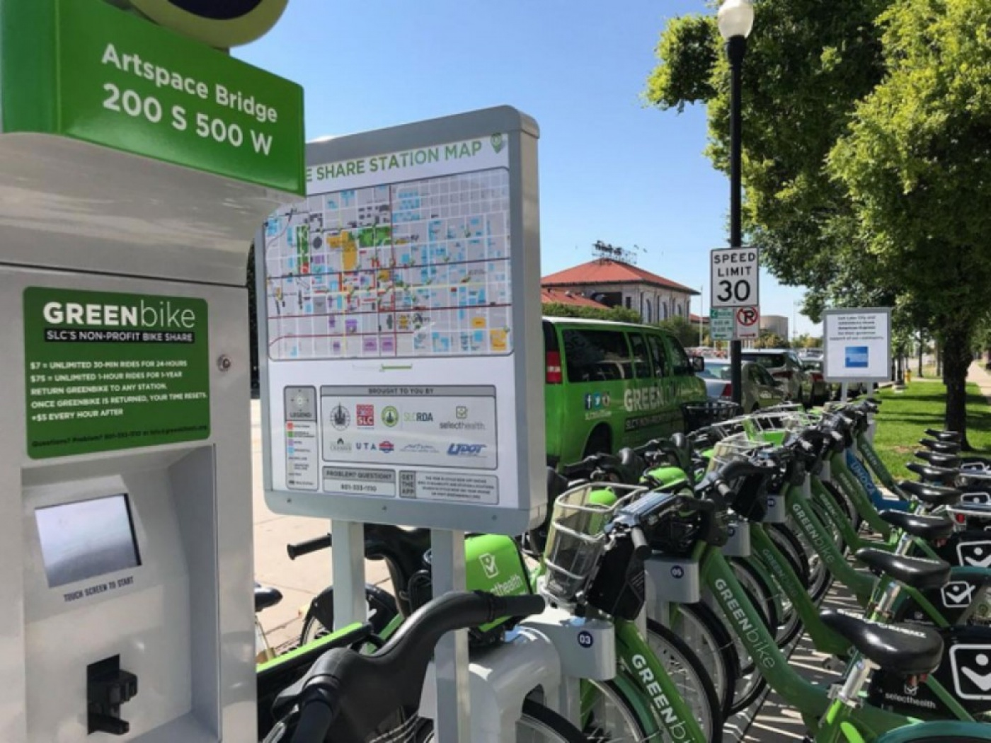 Artspace Commons has a new GREENbike Station